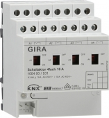Реле Instabus KNX/EIB, 4-канальное, с ручным управлением 100400