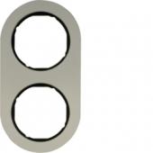 Рамка, R.classic, 2-местная, алюминий, цвет: черный 10122084