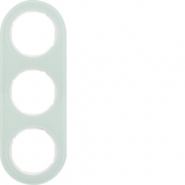 Рамка, R.classic, 3-местная, стекло, цвет: полярная белизна 10132009