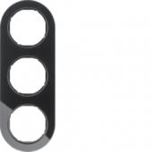 Рамка, R.classic, 3-местная, стекло, цвет: черный 10132016