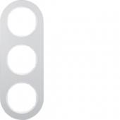 Рамка, R.classic, 3-местная, алюминий, цвет: полярная белизна 10132074