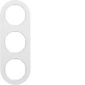Рамка, R.classic, 3-местная, цвет: полярная белизна 10132089
