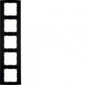 Рамкa, B.3, 5-местная, алюминий, цвет: черный/антрацитовый 10153005