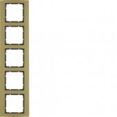 Рамкa, B.3, 5-местная, алюминий, цвет: золотой/антрацитовый 10153016
