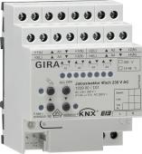 Реле/устройство управления жалюзи Instabus KNX/EIB, 4-канальное 230/24-48 В, с ручным управлением 103900