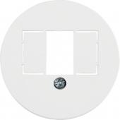 Центральная панель для розетки TAE, Serie 1930, цвет: полярная белизна, глянцевый 1040