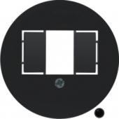 Центральная панель для розетки TAE, Serie 1930, цвет: черный, глянцевый 104001