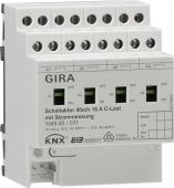 Реле InstabusKN{/EIB, 4-канальное,с ручным управлением,для емкостной нагрузки, с функцией замера тока 104500
