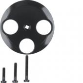 Центральная панель для антенной розетки, Serie 1930, цвет: черный, глянцевый 106421