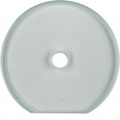 Стеклянная оконечная накладка для поворотных выключателей, Serie Glas, прозрачная 1094