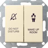 Двухклавишный выключатель в сборе для управления индикатором состояния номера в гостинице 110401