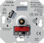 Вставка низковольтного светорегулятора с поворотной ручкой 118300