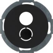 Электронная вставка с центральной панелью для малого штекерного соединения, R.classic, цвет: черный 11962035
