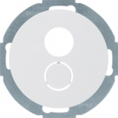 Электронная вставка с центральной панелью для малого штекерного соединения, R.classic, цвет: полярная белизна 11962079