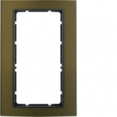 Рамка с большим вырезом, B.3, алюминий, цвет: коричневый/антрацитовый 13093001