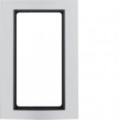 Рамка с большим вырезом, B.3, алюминий, цвет: алюминиевый/антрацитовый 13093004