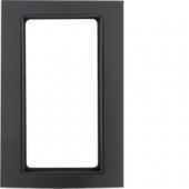 Рамка с большим вырезом, B.3, алюминий, цвет: черный/антрацитовый 13093005