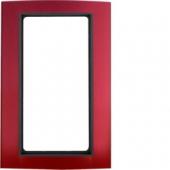 Рамка с большим вырезом, B.3, алюминий, цвет: красный/антрацитовый 13093012