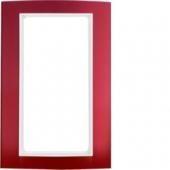 Рамка с большим вырезом, B.3, алюминий, цвет: красный/полярная белизна 13093022