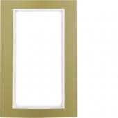 Рамка с большим вырезом, B.3, алюминий, цвет: золотой/полярная белизна 13093046