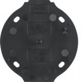Самозатухающее основание, 1-местное цвет: черный, Serie 1930 133111