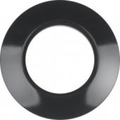 Рамка, Serie 1930, 1-местная цвет: черный, глянцевый 138101