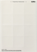 Поле для надписи для наружного домофона 1-местное 145800