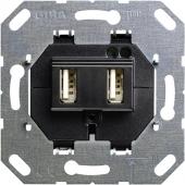 Разъем USB для питания 2 местный 235900