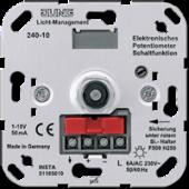 Потенциометр для регулирования люминесцентных ламп с выключателем 240-10