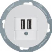 USB-розетка для подзарядки 230 V, R.classic, цвет: полярная белезна 26002089