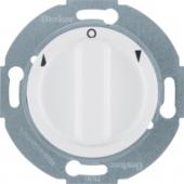 Жалюзийный поворотный выключатель с центральной панелью и вращающейся ручкой, Serie 1930/Glas/Palazzo, цвет: полярная белизна, глянцевый 3811