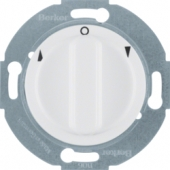 Жалюзийный поворотный выключатель с центральной панелью и вращающейся ручкой, Serie 1930/Glas/Palazzo, цвет: полярная белизна, глянцевый 3812