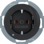Розетка SCHUKO с подсветкой для ориентирования, R.classic, цвет: черный 41092045