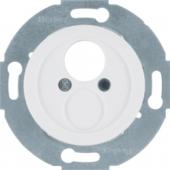 Механизм для малого штекерного разъема с центральной панелью, Serie 1930/Glas/Palazzo, цвет: полярная белизна, глянцевый 450820