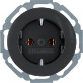Штепсельная розетка SCHUKO, R.classic, цвет: черный 47552045