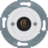 Нажимная кнопка и световой сигнал Е10 с центральной панелью, Serie 1930/Glas/Palazzo, цвет: полярная белизна, глянцевый 5104
