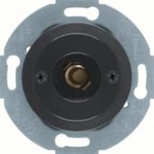 Нажимная кнопка и световой сигнал Е10 с центральной панелью, Serie 1930/Glas/Palazzo, цвет: черный, глянцевый 510401