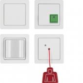 Комплект аварийной связи с рамкой, Q.1, цвет: полярная белизна, с эффектом бархата 52006089