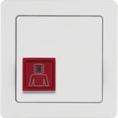 Нажимная кнопка вызова с рамкой, Q.1, цвет: полярная белизна, с эффектом бархата 52066089