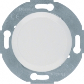 Заглушка с центральной панелью, Serie 1930/Glas/Palazzo, цвет: полярная белизна, глянцевый 67100920