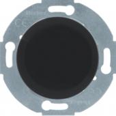 Заглушка с центральной панелью, Serie 1930/Glas/Palazzo, цвет: черный, глянцевый 67100921