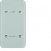 Touch Sensor «Комфорт», 2-канальный, с шинным соединителем, R.1, сконфигурирован, цвет: полярная белизна 75142160