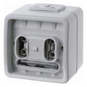 Одноклавишная кнопка с шинным контролером, 1-канальная цвет: светло-серый, Aquatec IP44 75191000