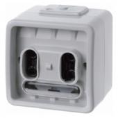 Одноклавишная групповая кнопка с шинным контроллером, цвет: светло-серый, Aquatec IP44 75191100