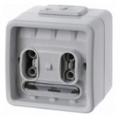 Двухклавишная кнопка с шинным контролером, цвет: светло-серый, Aquatec IP44 75192000
