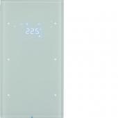 Touch Sensor, 2-канальный с регулятором температуры помещения, R.3, цвет: полярная белизна 75642050