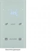 Touch Sensor, 2-канальный с регулятором температуры помещения, R.3, сконфигурирован, цвет: полярная белизна 75642150