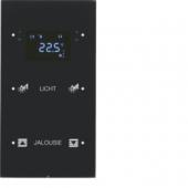 Touch Sensor, 2-канальный с регулятором температуры помещения, R.3, сконфигурирован, цвет: черный 75642155