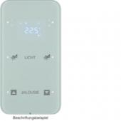 Touch Sensor, 2-канальный с регулятором температуры помещения, R.1, сконфигурирован, цвет: полярная белизна 75642160