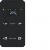 Touch Sensor, 2-канальный с регулятором температуры помещения, R.1, сконфигурирован, цвет: черный 75642165